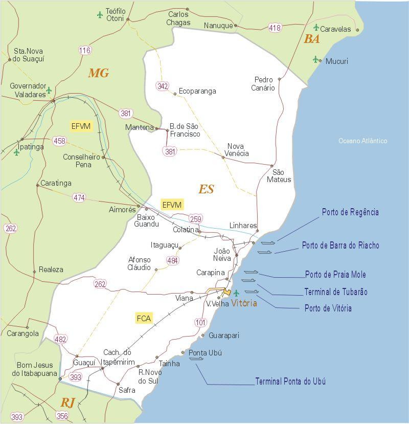 mapas do brasil espirito santos