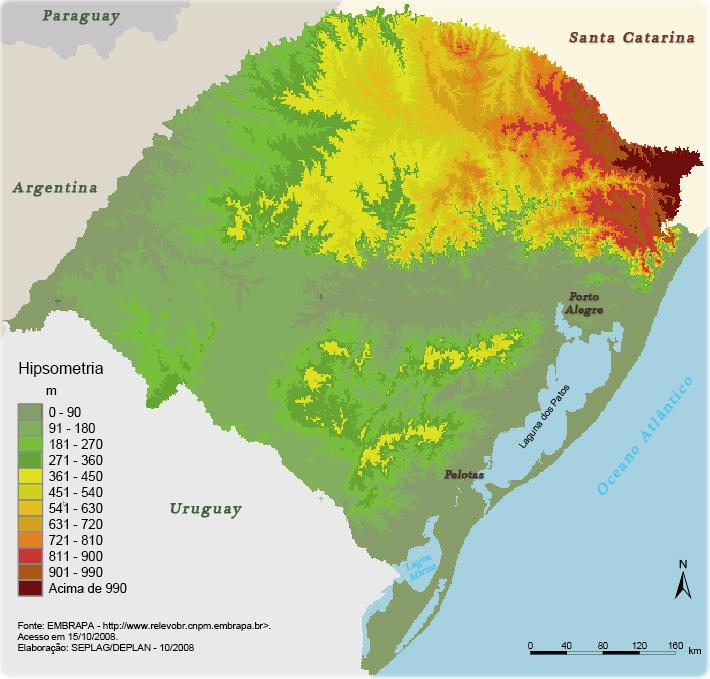 Rio Grande Mapa Fisico.Mapa Rio Grande Do Sul