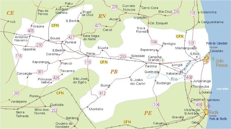 Paraíba Mapa